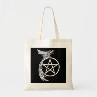 CROW AND PENTACLE TOTE BAG