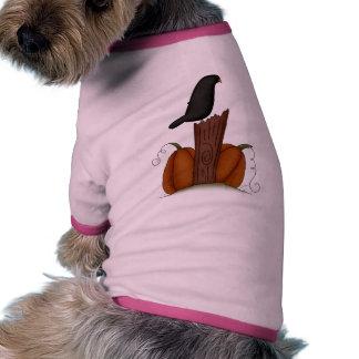 Crow and Pumpkins Ringer Dog Shirt
