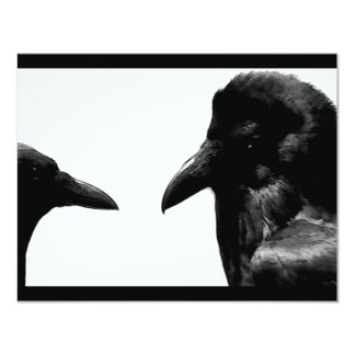 Crow and Raven 4.25x5.5 Paper Invitation Card