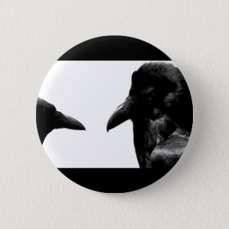 Crow and Raven 6 Cm Round Badge