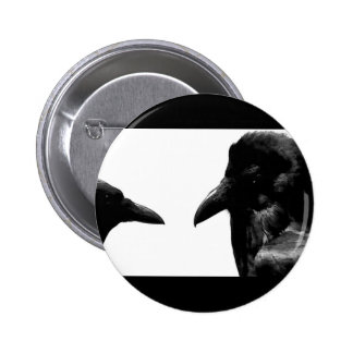 Crow and Raven 6 Cm Round Badge