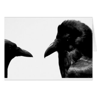 Crow and Raven Card