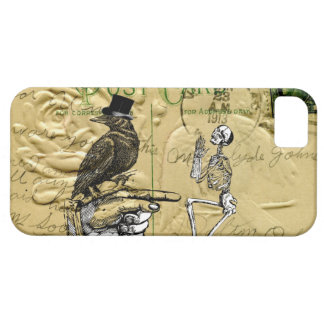 Crow and skeleton barely there iPhone 5 case