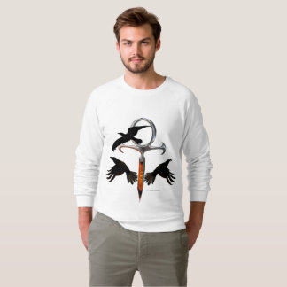 Crow Ankh Men's Raglan Sweatshirt