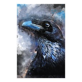 Crow art #crow #bird #animals stationery