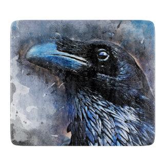 crow bird art #crow cutting board