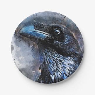 crow bird #crow paper plate