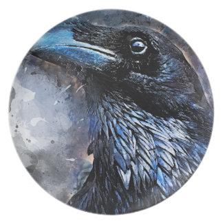 crow bird #crow plate