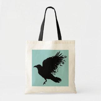 Crow - black budget tote bag