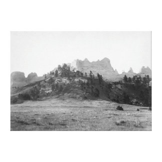 Crow Butte near Ft. Robinson Photograph Canvas Print