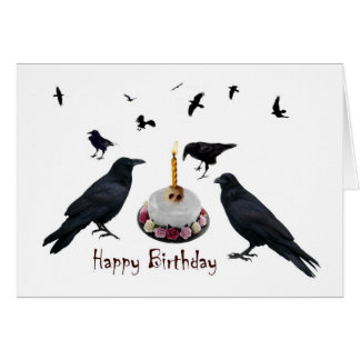 Crow Cake Birthday Card