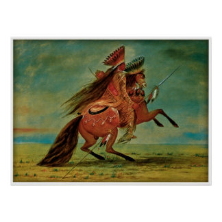 Crow Chief by George Catlin 1850 Poster