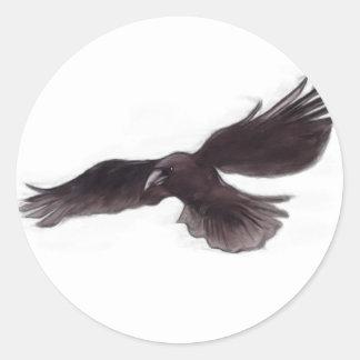 Crow Classic Round Sticker