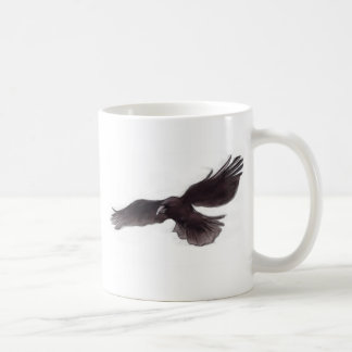 Crow Classic White Coffee Mug