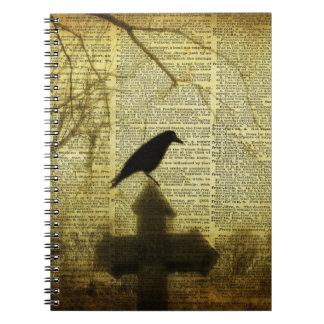 Crow Collage Spiral Notebook
