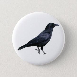 Crow crow 6 cm round badge