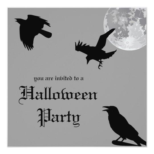 Crow Dance Halloween Party Invitation