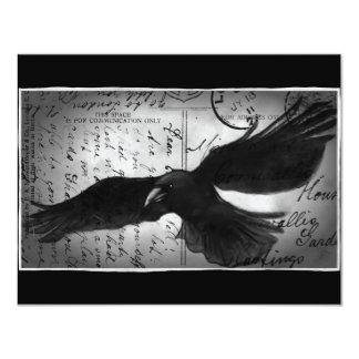 Crow deluxe 4.25x5.5 paper invitation card