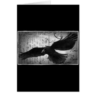 Crow deluxe greeting card