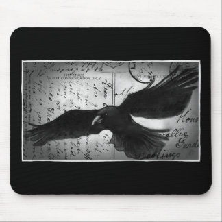 Crow deluxe mouse pad