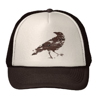 Crow Distressed in Brown Cap