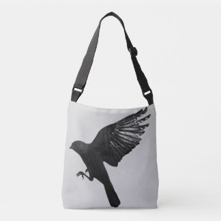 Crow flying crossbody bag