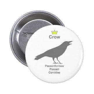 crow g5 6 cm round badge