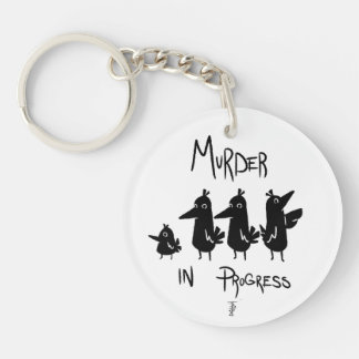 Crow gathering key ring
