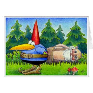 Crow Gnome Christmas card