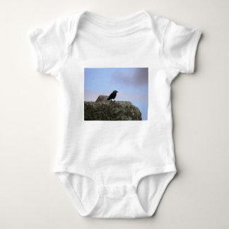 Crow guardian of Stone Henge Baby Bodysuit