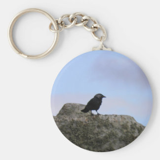 Crow guardian of Stone Henge Key Ring