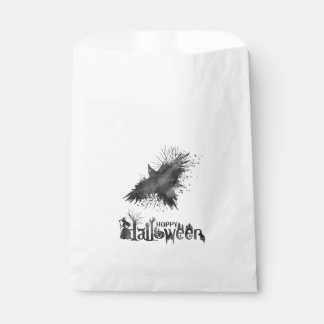 Crow Halloween Party Favor Bag
