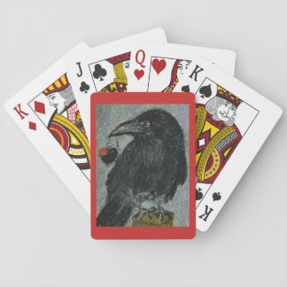 Crow Heart Necklace watercolour playing cardsome Playing Cards