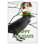 Crow Holiday Greeting Card