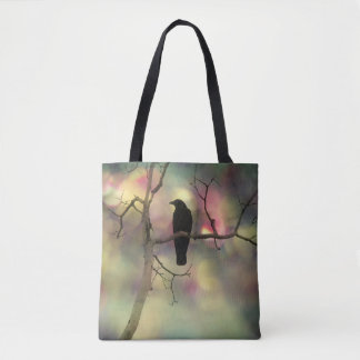 Crow In A Colorful Bliss Tote Bag