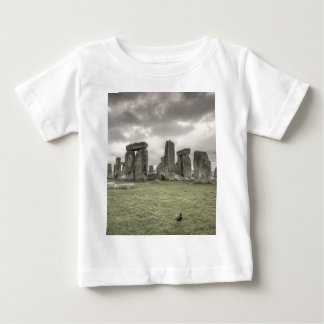 Crow in front of Stonehenge, England Baby T-Shirt