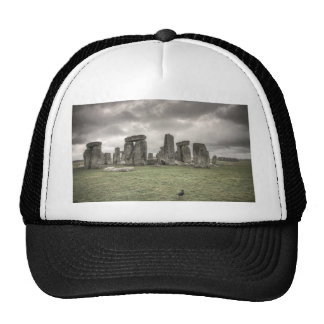 Crow in front of Stonehenge, England Cap