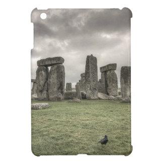 Crow in front of Stonehenge, England iPad Mini Covers