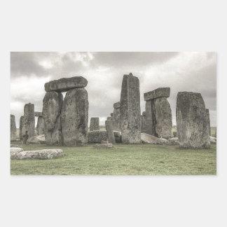 Crow in front of Stonehenge, England Rectangular Sticker