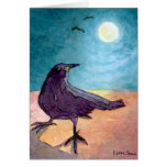 Crow in Moonlight Note Card