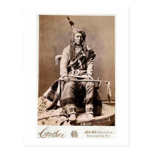 Crow Indian 1880 Vintage Native American Post Card