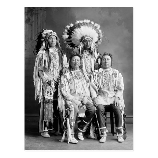 Crow Indian Group Portrait, early 1900s Post Card