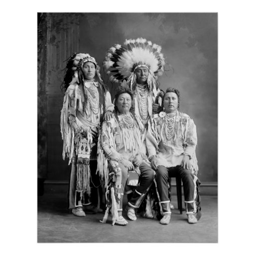 Crow Indian Group Portrait, early 1900s Posters