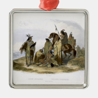 Crow Indians, plate 13 from volume 1 of `Travels i Christmas Ornament