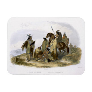 Crow Indians, plate 13 from volume 1 of `Travels i Rectangular Photo Magnet