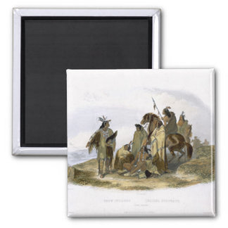 Crow Indians, plate 13 from volume 1 of `Travels i Square Magnet