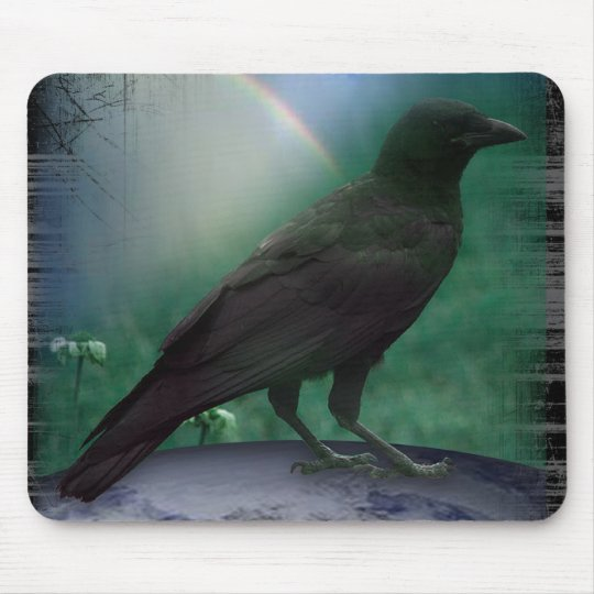 CROW KNOW EARTH MOUSE MAT