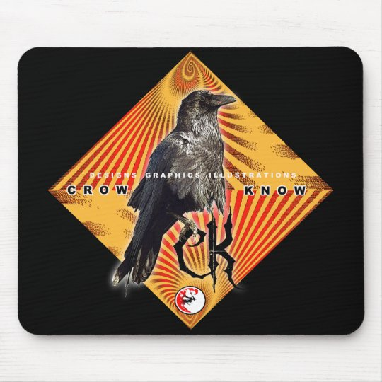 CROW KNOW PYRAMID MOUSE MAT