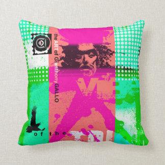 crow mask modern throw cushions