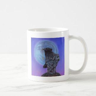 Crow Moon Basic White Mug